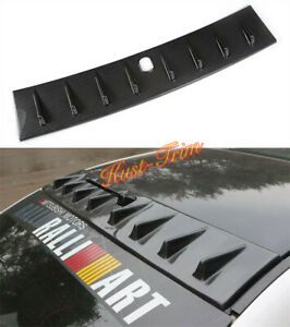 For Mitsubishi Lancer 08 15 Carbon Fibre Roof Radio Antenna Spoiler Wing Cover