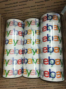 Lot Of 18 Rolls Official Multicolor Ebay Branded Packaging Tape Free Shipping