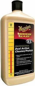 Meguiar s M83 Mirror Glaze Dual Action Cleaner Polish Auto Paint Correction 32oz