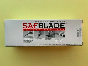 Safety Scalpel Box Of 10 Sterile Single Use Only