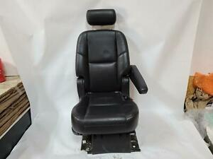 2008 Escalade Left Driver 2nd Row Rear Heated Bucket Leather Seat Black 194