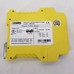Phoenix Contact Safety Relay Psr scp 24uc esa4 3x1 1x2 b Pre owned
