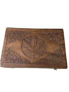 Solid Wood Chest Box For Smokers Bong