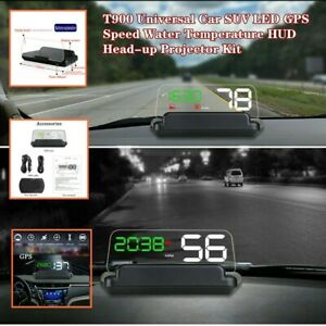 T900 Universal Car Hud Head up Projector System Led Gps Speed Water Temperature