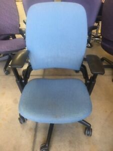Steelcase Leap Ergonomic Office Chair In Blue Fabric Local Pick Up Only Denver