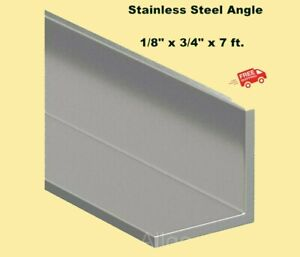Stainless Steel Angle Iron 1 8 X 3 4 X 7 Ft 90 Hot Rolled 304 Mill Finish