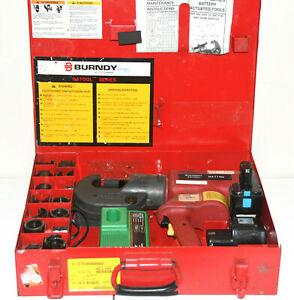 Burndy Bat750 14v Hydraulic Battery Crimping Tool W dies