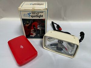 Vintage Sears Quartz Halogen Hand Held Spotlight Vehicle Emergency Light a6