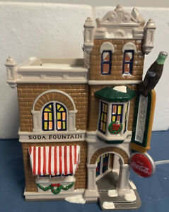 *Dept 56 Snow Village ~COCA COLA CORNER DRUGSTORE ~ EUC in Box