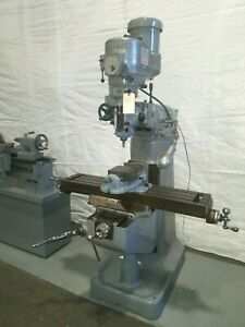 Bridgeport Vertical Milling Machine 2hp Variable Speed Head With Hartford Base