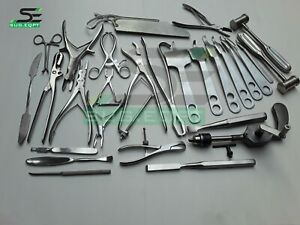 Orthopedic Surgery Instruments With Bone Drill Saw Surgical Instruments 30 Pcs