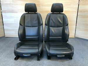 07 13 Oem Bmw E92 Coupe M3 Black Sport Leather Front Seats Note Knee Support