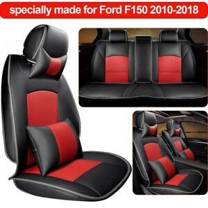 Truck Car Seat Covers For Ford F150 2010 2018 4 Door 5 Seat Cover Pu Leather