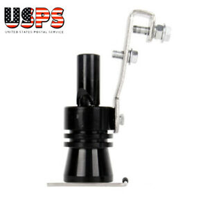 Universal Fake Turbo Sound Roar Whistle Exhaust Muffler Pipe Xl Bov Black Us