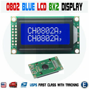 0802a Character Type Lcd Screen 8 X 2 Lines Blue Screen Lcd Module Display