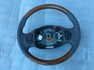 1999 2007 Ford F 250 F 350 Excursion Steering Wheel Grey Leather And Wood Oem