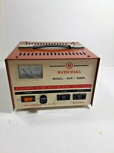 Matsuzaka Model Avr 500n Ac Automatic Voltage Regulator Output Total 500va