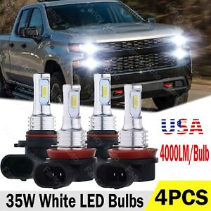 9005 H11 For 2019 2020 Silverado Wt Custom Trail Boss 6000k Led Headlight Bulb