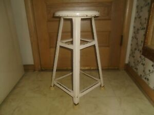 Vintage Industrial Shop Stool Drafting Machinist Chair Metal Stool