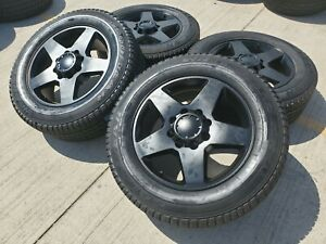 20 Chevy Silverado Gmc Sierra 2500 Oem Replica Black Wheels Rims Tires 8x165