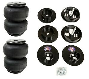 Rear Air Ride Suspension Kit W D2500 Air Bags Mounting Cups For 65 70 Cadillac
