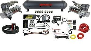 Level Ride Pressure Only Airmaxxx Chrome 480 Air Management W complete Wire Kit