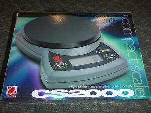 Ohaus Cs 2000 Portable Compact Scale 2000 X 1g Battery Operated Or A