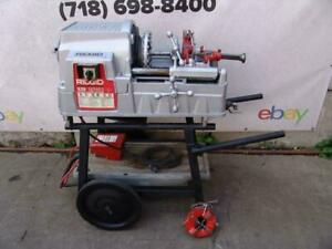 Ridgid 535 Pipe Threader 1 2 To 2 Inch Comes With 2 Dies 2014 Model Works Great