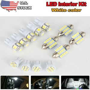 13x White Led Bulb For Car Dome Map License Plate Light Interior Led Package Usa