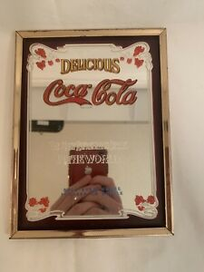 Vintage Coca-Cola Mirror Delicious Most Refreshing Drink in the World Intercraft
