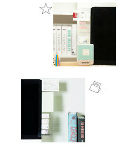 Sticky Portable Card Holder Transparent Note Monitor Computer Screen Stick Board
