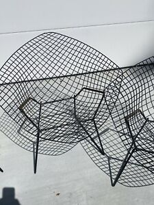 Knoll Bertoia Lounge Chair In Black Mid Century Modern Icon