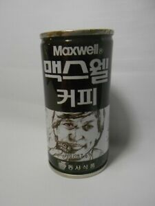 Vintage Maxwell Coffee ?South Korea? Drink Advertising EMPTY Can FREE SHIPPING