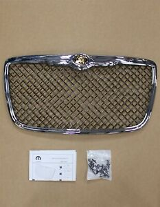 05 10 Chrysler 300 Oem Accessory Grill Chrome Mesh Insert Honeycomb W Emblem