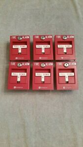 Simplex Pull Stations Lot Of 6 4099 9001 Addressable Nice