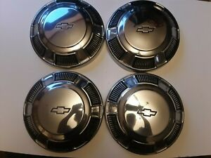 Vintage 1960 s 1970 s Chevy Impala Bel Air Biscayne Dog Dish Hubcaps 10 1 2