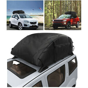 Newest Black Car Van Roof Travel Cargo Bag Box Storage Rooftop Luggage Carrier