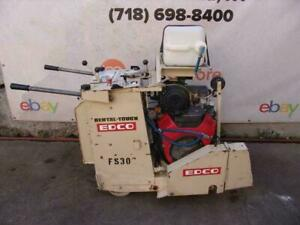 Edco Ss20 20h Honda 20hp Concrete Saw Walk Behind Self Propelled Only 154 Hours