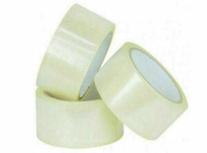 12 X Clear Packing Tape Strong 48mm X 66m Packaging High Quality