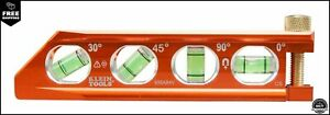 Klein Tools 935ab4v Level Torpedo Level Is A Magnetic Conduit Level With 4 Vials