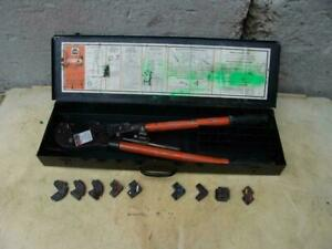 Thomas And Betts Crimper For Cable Wire Tbm6s With Dies