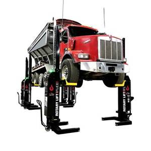 Rotary Mchm414 56 000lb Flex Max Mobile Column Lifts set Of 4