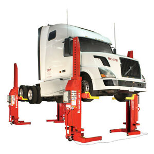 Rotary Mch413 Mach Series 52 000lb Wired Mobile Column Lifts set Of 4