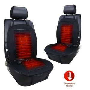 Pair 12v Universal Electric Car Heating Warmer Pad Heated Seat Cushion Cover
