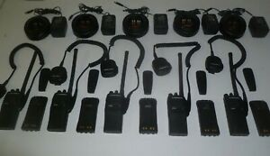 Lot Of Five Motorola Ht750 35 50 Mhz Low Band Two Way Radio Aah25cec9aa3an Od497
