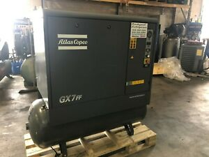 10 Hp Atlas Copco Gx7ff Air Compressor And Dryer