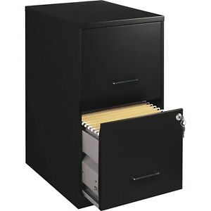 Filing Cabinet 2 Drawers Metal Lockable Vertical Files Office Home Organize Dorm