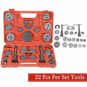 22pcs Universal Disc Brake Caliper Piston Pad Auto Wind Back Hand Tool Set Kit