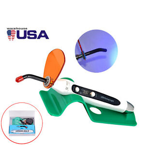Usa Dental Wire Wireless Led Curing Light Lamp Cold Light Dental Led Curing