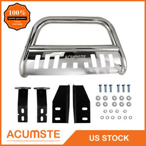 Bull Bar For Toyota Tundra 2007 2018 Chrome 3 Brush Push Bumper Grille Guard